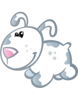 Sticker petit chiot
