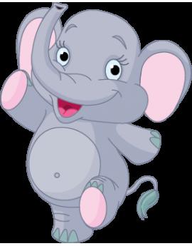 Sticker éléphant heureux