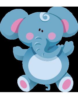 Sticker éléphant bleu