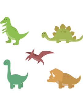 Kit 5 Stickers dinosaures