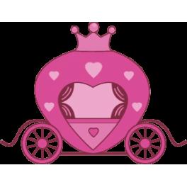 Sticker princesse carrosse rose color stickers - Carrosse de princesse ...