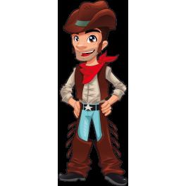 Sticker cowboy garçon