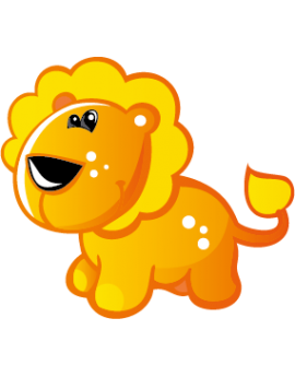 Sticker lionceau orange