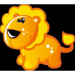 Sticker lionceau orange