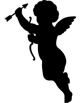 Sticker ange arc et flèche