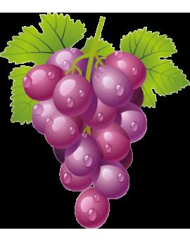 Sticker grappe de raisins violets
