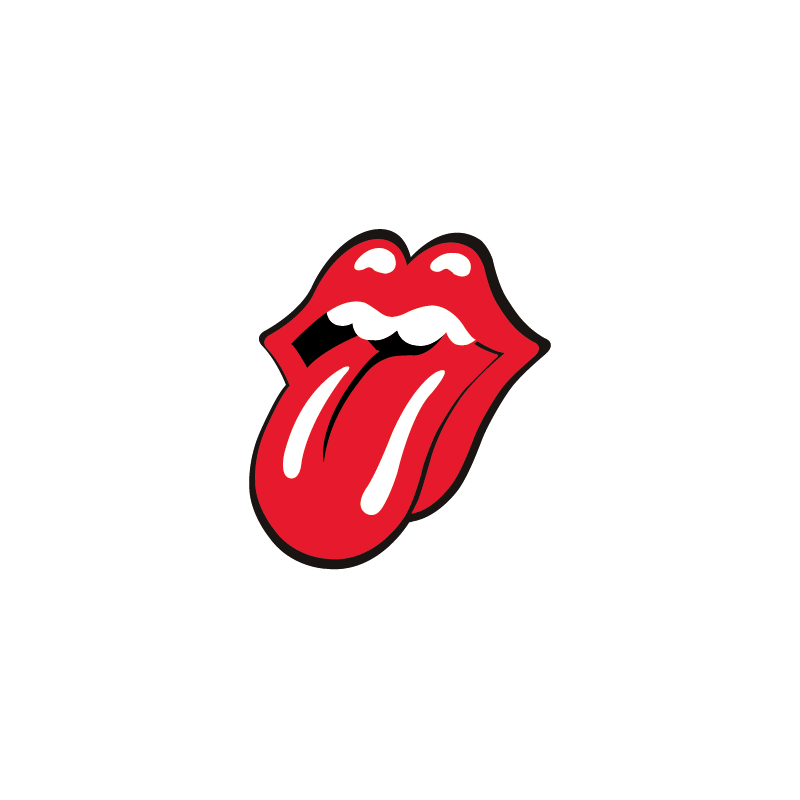 Sticker Londres Langue The Rolling Stones Color Stickers