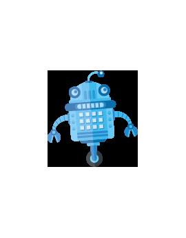 Sticker robot bleu espace