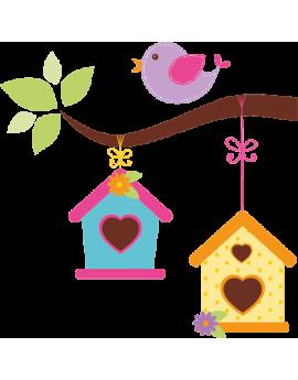 Sticker oiseau sur branche