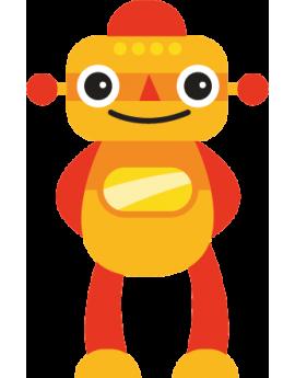 Sticker robot orange