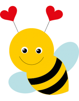 Sticker jolie abeille