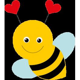 Sticker jolie abeille