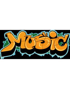 Sticker graffiti music