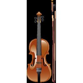 Sticker solfège violon et archet