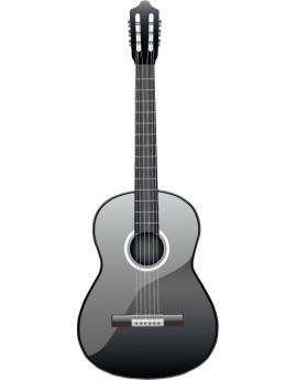 Sticker solfège guitare classique grise