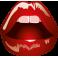 Sticker mode bouche lèvres rouges