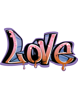 Sticker graffiti peinture love