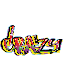 Sticker graffiti peinture crazy