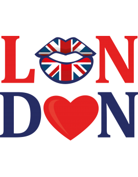 Sticker lettrage bouche London