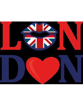 Sticker lettrage bouche London