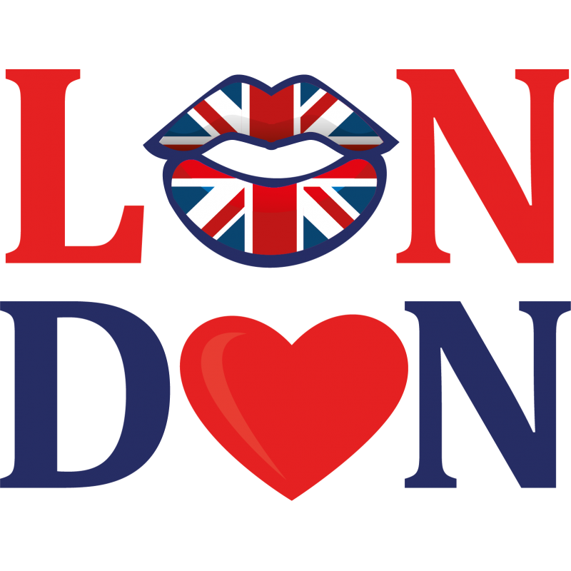 Sticker lettrage bouche london color stickers - Dessin de bouche a imprimer ...