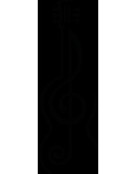 Sticker solfège guitare classique