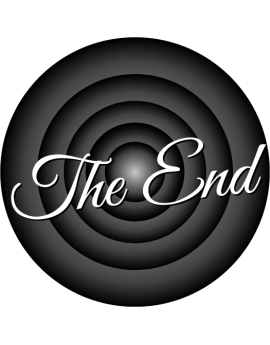 "Sticker cinéma ""The End"""