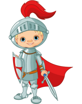 Sticker enfant chevalier rouge