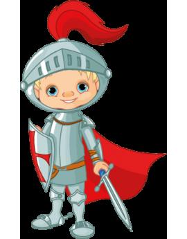 Sticker enfant chevalier rouge