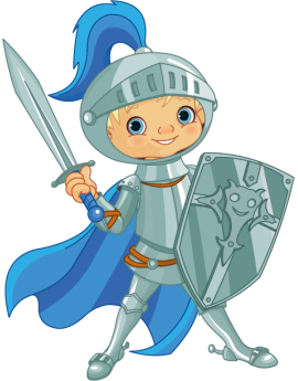 Sticker enfant chevalier bleu
