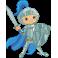 Sticker enfant chevalier bleu