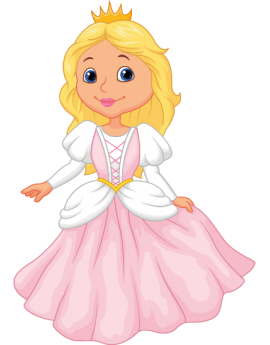 Sticker enfant princesse rose