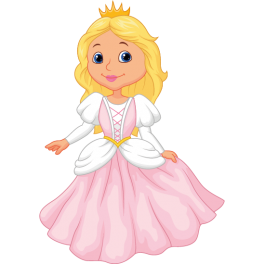 Sticker enfant princesse rose