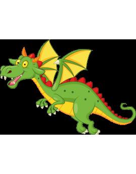 Sticker chevalier dragon