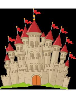Sticker chevalier château fort