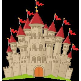 Sticker chevalier ch teau fort color stickers - Chateau de mike le chevalier ...