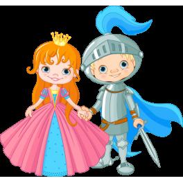 Sticker couple chevalier et princesse