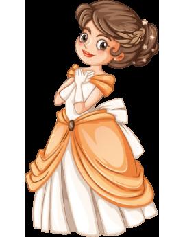 Sticker enfant princesse
