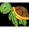 Sticker océan tortue des mers