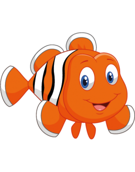 Sticker océan poisson clown