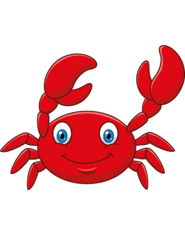 Sticker océan crabe rouge