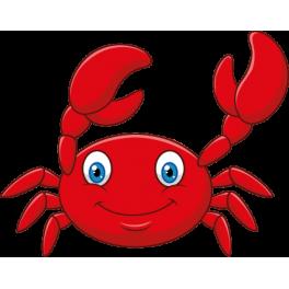 Sticker océan crabe rouge