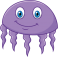 Sticker océan méduse violette