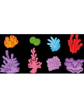Kit 8 Stickers océan plantes et algues