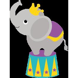 Sticker cirque éléphant
