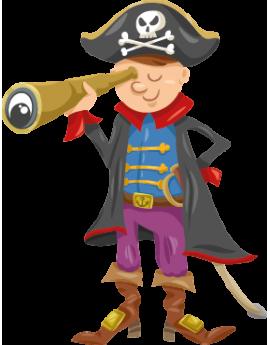 Sticker pirate longue vue