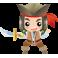 Sticker garçon pirate épée