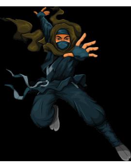 Sticker ado manga ninja