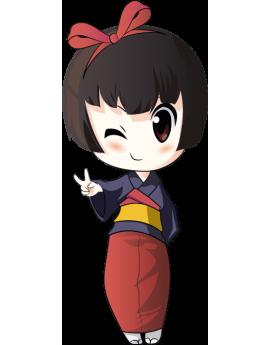 Sticker ado manga petite fille asiatique