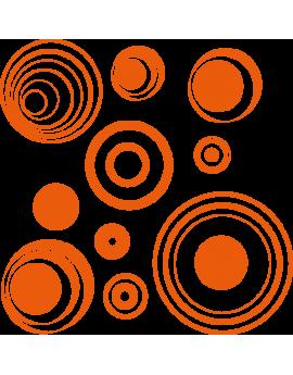 Kit 10 Stickers pop cercle déco